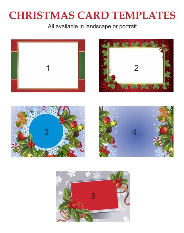 Custom Christmas Card templates