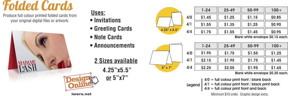 printed note cards online